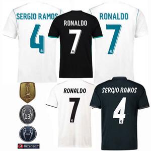 2018 2019 Retro klasik Real Madrid futbol formaları MARCELO BALYA RONALDO Sergio Ramos 17/18/19 Retro futbol forması 2017 Üst