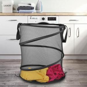 Foldable Large Storage Laundry Hamper Clothes Basket Nylon Laundry Washing Bag