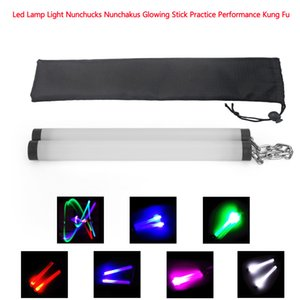 Areyourshop Fitness Led Lamp Light Nunchucks Nunchakus Glowing Stick Practice Performance Kung Fu Sporting goods Accessories Parts