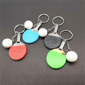7 Farbe Sport Ping Pong Tischtennisball Badminton Bowlingkugel Keychain Schlüsselanhänger Schlüsselanhänger Schlüsselanhänger Beste Freunde Geschenk
