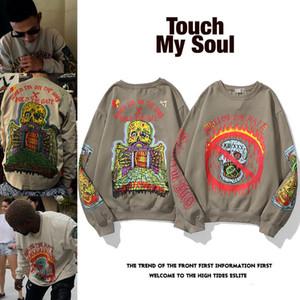 Kanye Kanye Season6 Sweater Graffiti Sweater Rapper Rapper Old School Suete Algodón Mangas largas