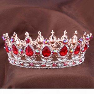 Hot European Designs royal king queen crown rhinestone tiara head jewelry quinceanera crown Wedding bride Tiaras Crowns Pageant X912