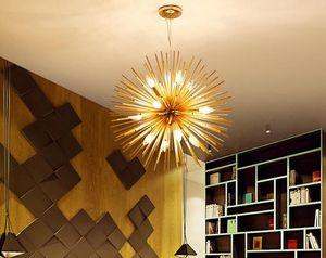 Nordic LED Alumminum Dandelion Lampadario lustro Sputnik appeso Lamp Fixture creativa Luster Cafe Home Ristorante Deconration