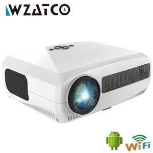 WZATCO C3 New Projector 4K Android 10.0 WIFI Native 1920*1080 LED Proyector Home Theater 3D Media Video player Game Beamer