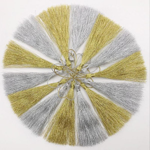 15 pcs ouro seda de silk de seda borla pingente de jóias cortina de jóias acessórios decorativos saco chave saco pendant borlas de artesanato diy h jllpnr