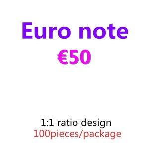 Banknote kopieren und Pretend Prop-Bar 50 Filmgeldpapier PROP 09 Euro Geld 100pcs / paket Best OfLSQ