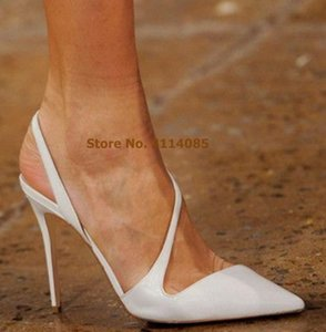 Giovani signore Concise Vogue Vogue Punte Shoes Shoes Shoes Ultra High Heel Strappy in pelle da sposa in pelle da sposa Stretchy Pompe poco profonde