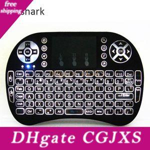 Rii Mini I8 Branco Backlight 2 .4g teclado sem fio Rii teclados com Touchpad Remotes Para Pc Smart TV Tv Android Box Set Top Box