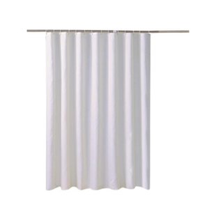 White Thickened Polyester Fabric Plain Shower Curtain Home Hotel Bathroom Waterproof Shower Curtain Partition 180 x 180c