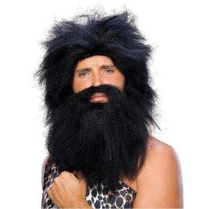 Costumi di Halloween La gente indigena parrucca del partito di Cosplay Manutenzione parrucca barba Y201006 capo Mask Cosplay decorazione di Halloween Savage Jbrl