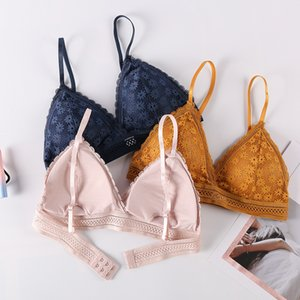 New style sexy lace bra with no steel ring and breast cushion