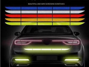 Araç Tampon Yansıtıcı Sticker Kuyruk Uyarı Teyp Emniyet Yansıtıcı Güvenli Reflektör Çıkartma İçin Dış Aksesuarlar Şeritler