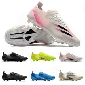 الظلام الحركة فولت لكرة القدم أحذية ADS X الشفافة + الأزرق الملكي إنفلايت الذهب الأبيض الأساسية الأسود Uniforia X GHOSTED.1 FG صدمة الوردي كرة القدم المرابط