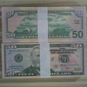 Fake Money Counting Pretend Money Dollar Educación de Money Movie 05 Niños Que Aprendizaje PROPER Bills Toys 50 para nosotros Papel GBDRI