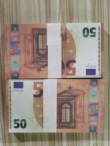 05 Simulación de venta en caliente 50 EURO Toy Film and Television Shooting Props Practice Dinlar Money Game Tokens