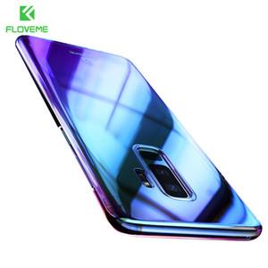 أورورا بلو راي الهاتف الحال بالنسبة لسامسونج غالاكسي S9 S9 بلاس الترا رقيقة PC غطاء لسامسونج S8 S6 S7 حافة ملاحظة 8 حالات كابا