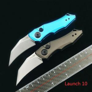 """KERSHAW COUTEAU 7350 Lancez 10 Couteau de pliage automatique 1.9 """"Poignée en aluminium anodisé à lame de hawkbill gris foncé de la CPM-154"""