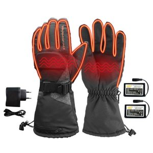 Электрический подогрев перчатки с 3600mAh аккумуляторная батарея Питание Тепловые перчатки Водонепроницаемый Зимняя Термальная Теплый на открытом воздухе