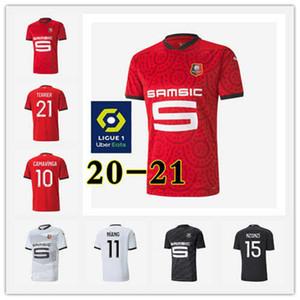 Детские наборы + носки 20 21 Ренн футбол Джерси Главная 2020 Rennes Майо De Foot РСПС = SARR Ньянг BOURIGEAUD ANDRE HUNOU Футбол Наборы