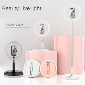 Light Ring selfie Fill 1.6m supporto per fotocamera Treppiede Video Phone Live Desktop lampada da terra Youtube