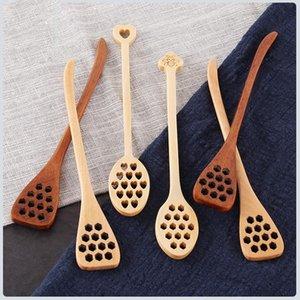 ملاعق عسل خشبي ملعقة خلط مقبض خشب تحريك بار ل جرة عصا dipper المطبخ أدوات المائدة الحلوى