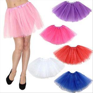 Adulte Femmes Jupes Tutu Layered dentelle organza Club Wear Princesse Petti Skirt Up Party Jupe Costume