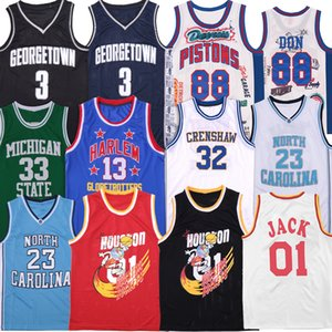 Rapper Jersey 88 Don Georgetown Travis Scott 01 Jack North Carolina Bölgesi Harlem Michigan State Villanova Koleji Basketbol Formaları