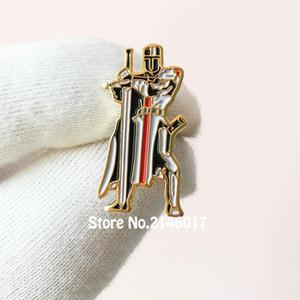 50 pcs pinos personalizados emblema de metal maçons free maçons guarda espada cavaleiros templários selo cruzado solomons templo lapela pin brocha1