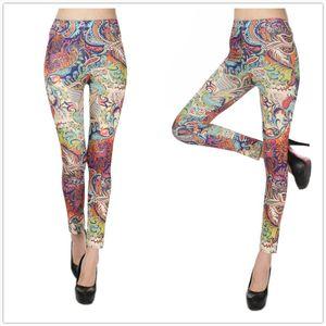 Hot New Spring Legging National Ethnic Style Retro Graffiti Paintings Printing Flowers Trousers Printed High Elasticity Leggings