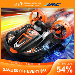 JJRC Q86 2.4G 2 in 1 Amphibious Drift Car Auto Telecomando Hovercraft Speed ​​Boat RC Stunt Car For Kid Boys Model Toys Outdoor Giocattoli 201105