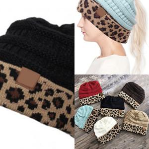 do A099 Cfp Rts Mulheres Winter Knit Rabo-Cap Leopard Cc Beanie LHPN