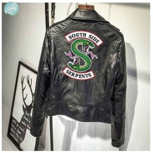 Women Jackets Woman Clothes Southside Riverdale Serpents Short Sleeve Print Pu Leather Southside Streetwear Leather Coat Hoodie