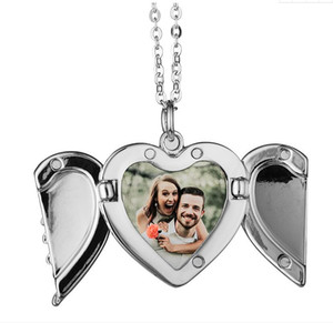 Sublimation Big Wings Necklaces Pendants Blanks Car Pendant Angel Wing Rearview Mirror Decoration Hanging Charm Ornaments DDF4277