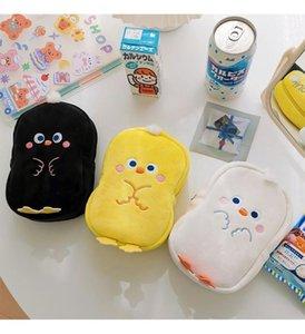 Bentoy Milkjoy Yeni Kore Moda Tavuk Kozmetik Kılıfları Sevimli Kız Flanel Yumuşak Makyaj Çantası Kadın Ev Saklama Kutusu Çocuklar Sikke Bag1