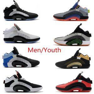 Nike Air Jordan 35s zapatos de baloncesto de Jumpman 35 para los deportes de la venta de tenis zapatillas de deporte para jóvenes Negro Blanco Rojo Gris calzado deportivo rosa
