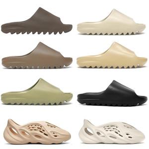 Playa al aire libre zapatillas de diapositivas para hombres mujeres niños Bone Triple negro hollín núcleo de arena del desierto Tan Tierra resina de Brown Ararat sandalias para hombre interior