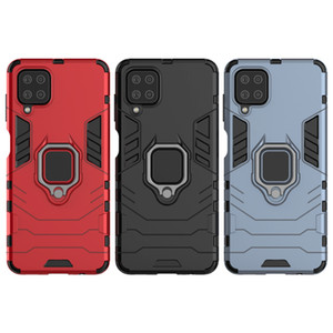 Phone Cover Stand Cases For Samsung Galaxy A12 5G Case Shockproof Kickstand Ring Case GalaxyA12 5g Back Cover Caso