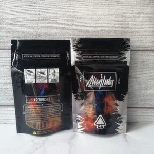 2021ij New Alien Labs Sacs Sac à fermeture à glissière reseal pour la fraîcheur des fleurs à la fraîcheur Emballage Emballage Cookies Connected Runtz