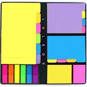 Lolede Floresan Kendinden yapışkanlı Notebook İç Çekirdek Kapak Not Defteri Dergisi Planlayıcısı Büro Kırtasiye Malzemeleri