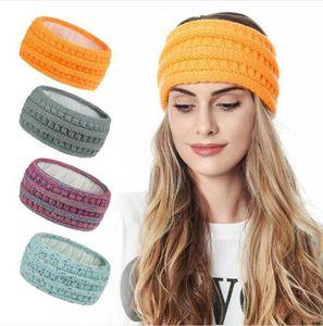 Tricoté Crochet Bandeau Mode solide Femmes hiver chaud oreille Turban large tricot de laine Bandeau headwraps Accessoires DDA762