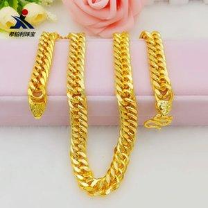 Латунь Золото Фу литерных Boss ожерелье цепи гальванической Имитация Head ювелирные изделия Властной для мужчин
