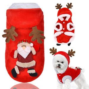 الحيوانات الأليفة الرنة معطف عيد الميلاد الأيائل زي الكلب الملابس الشتاء جرو عطلة ملابس الزي الكلب حزب اللباس هوديي pet custome