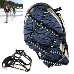 Hot 1Pair Outdoor Sports Shoe Cover Non-slip Crampons Ice Grip Walk Traction Cleats