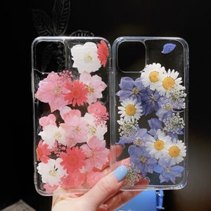 Luxury Dry Flower Phone Case For iPhone 11 Pro Max XS Max XR X 7 8 Plus Fashion Transparent Soft Back Cover