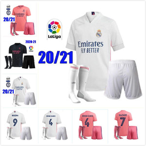 2020 2021 Real Madrid soccer jersey HAZARD ADULT kits socks 20 21 real Madrid Football shirt Asensio MODRIC ISCO Soccer shirts Sets