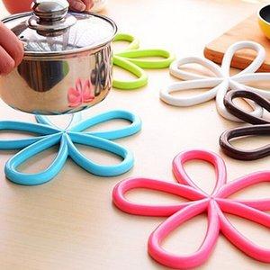Reative Color Color Placemat Plum Modeling AND-SLIG POT POT MATS COCINA COCINA DE AISLAMIENTO ANTI-SKID ANTI-SKID AHB2785