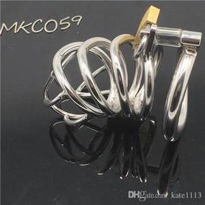 Las últimas Super Cock Ring inoxidable BDSM Diseño Hombre de Acero Curva Adulto Cock jaula con dispositivo de castidad Sexo 059 Castidad Bondage Juguetes dispositivo IRLI