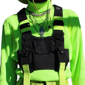 Chest Rig Bag Tactical Vest Harness Front Pack Pouch Holster Vest Rig Hip Hop Streetwear Functional Chest Bag For Men Waist