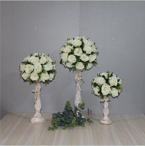 3 Size set Wedding Party Table Center Flower Ball Wedding Road Lead Artificial Flore Centerpiece Wedding Backdrop Flower Decoration