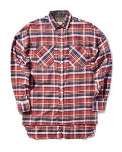 Мужские повседневные рубашки хип-хоп красная простая мода улица носить человека продавать негабаритную молнию проверить Бога